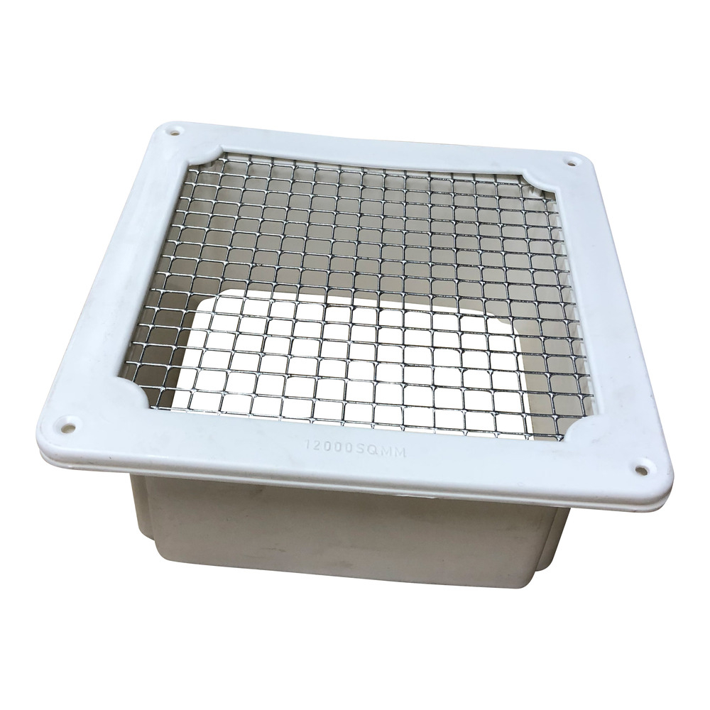 Square Floor Vent With Wire Mesh 12000sqmm White