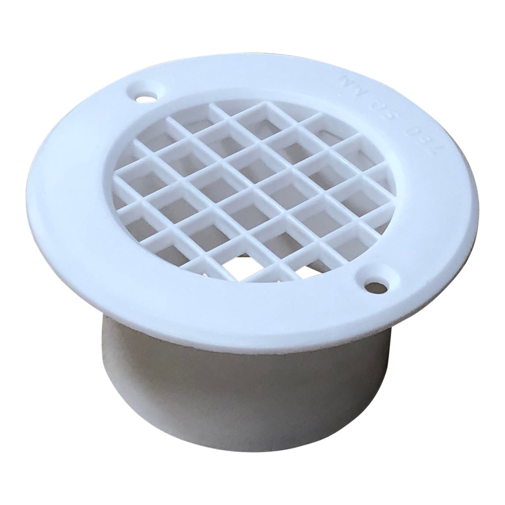White 75mm Mesh Floor Vent