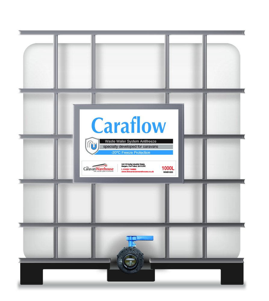 Caraflow Biodegradable Waste Water Antifreeze 1000L IBC